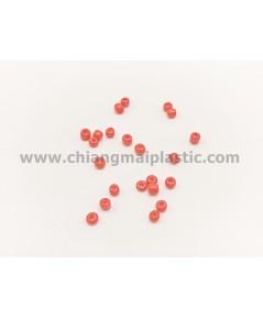 ลูกปัดชาวเขา สีแดง ขนาด 3 mm. เบอร์ 8/0