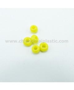 ลูกปัดชาวเขา สีเหลือง ขนาด 4 mm. เบอร์ 6/0