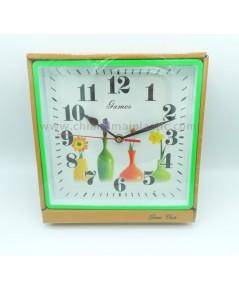 นาฬิกาตัวอักษรสีดำมีพื้นหลัง ขนาด 21.5 x 21.5 cm.