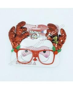 แว่นตาแฟนซี เขากวางเรนเดียร์ สีแดง