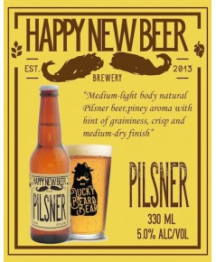 Happy New Beer Pilsner(ขวด)