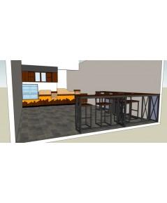 บริการออกแบบร้านกาแฟ เคาน์เตอร์กาแฟ  สามารถทำได้ตามงบประมาณ และรูปแบบที่ต้องการ