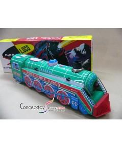 ของเล่นสังกะสี-หายาก-หัวรถไฟสังกะสีรุ่นพัฒนาขึ้นใช้ถ่านรุ่นแรกไ พร้อมกล่องอย่างดี เกือบ30 ปีแล้วครับ