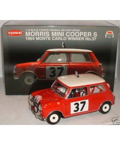 Kyosho dicast Morris  Mini Cooper S 1964 Monte Carlo 37 ครบรอบ 50ปี scale  1:18
