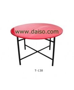 โต๊ะจีนกลมหน้าเหล็กพ่นสีอีพ็อกซี่ T-138