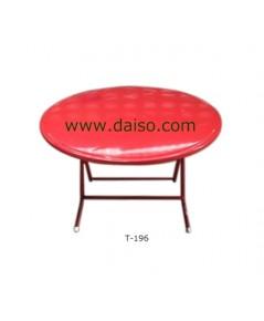 โต๊ะพับหน้าเหล็กกลม T-196