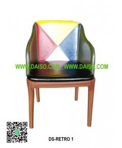 เก้าอี้เหล็ก เบาะหุ้มหนัง DS-RETRO 1