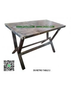 โต๊ะเหล็กทำสี แนวเรโทร DS-RETRO TABLE 2