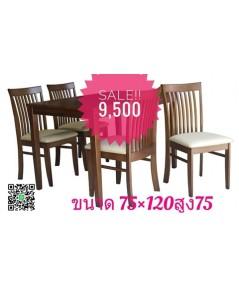 ชุดโต๊ะและเก้าอี้ทานอาหาร แบบ 4 ที่นั่ง DS-DN 48