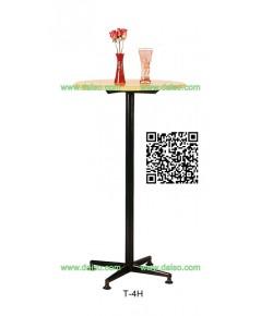 ขาโต๊ะเหล็ก สีดำ T-4H