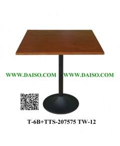 ขาโต๊ะทรงแชมเปญ / ขาโต๊ะเหล็กหล่อพร้อมหน้าโต๊ะ T-6B+TTS-207575 TW-12