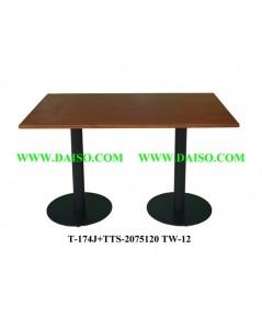 ขาโต๊ะพร้อมหน้าโต๊ะ / โต๊ะรับประทานอาหาร T-174J+TTS-2075120 TW-12