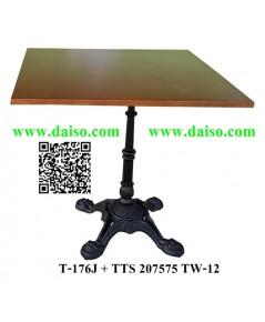ขาโต๊ะเหล็กหล่อ ทรงโรมันพร้อมหน้าโต๊ะ / โต๊ะรับประทานอาหาร T-176J+TTS-207575 TW-12