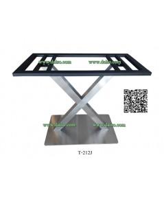 ขาโต๊ะสแตนเลส รูปทรงตัว X T-212J