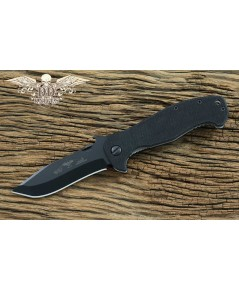 มีดพับ Emerson Mini CQC-15 Folding Knife Black Plain Blade, G10 Handles (MC15-BT)