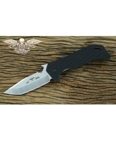 มีดพับ Emerson ETAK-B Folding Knife Stonewash Plain Tanto Blade, Black G10 Handles (ETAKB-SF)
