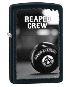 ไฟแช็ค Zippo Sons of Anarchy Reaper Crew Black Matte (28677)
