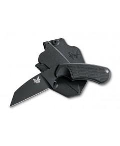 มีดใบตาย Benchmade 125BK Azeria Fixed N680 Black Plain Blade, Black Grivory Handles