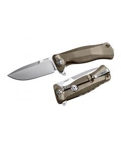 มีดพับ LionSteel SR-11 Integral Flipper Sleipner Drop Point Blade, Brown Titanium Handles (SR11 B)