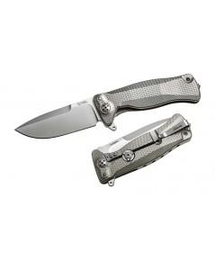 มีดพับ LionSteel SR-11 Integral Flipper Sleipner Drop Point Blade, Gray Titanium Handles (SR11 G)