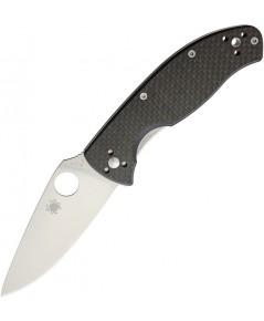 มีดพับ Spyderco Tenacious Folding Knife Satin Plain Blade, Carbon Fiber/G10 Handles (C122CFP)