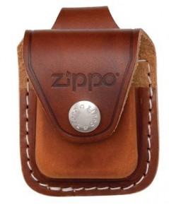 ซองหนังใส่ไฟแช็ค Zippo Brown Lighter Pouch- Loop (LPLB)