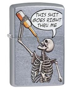 ไฟแช็ค Zippo Drinking Skeleton (29613)