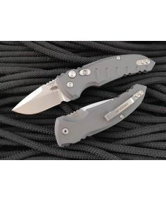 มีดออโต้ Hogue A01-Microswitch AUTO Folding Knife, Gray Aluminum Handles (24122)