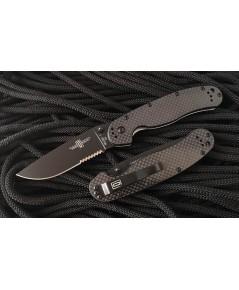 มีดพับ Ontario RAT 1 Limited Edition D2 Black TiNi Combo Blade, Carbon Fiber/G10 Handles (8885CF)
