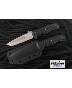มีดใบตาย Emerson CQC-7 Fixed Tanto Plain Blade, Black G10 Handles, Kydex Sheath (C7FX-SF)