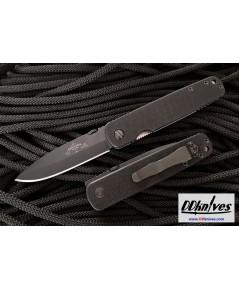มีดพับ Emerson A-100 Folding Knife Black Plain Blade, Black G10 Handles (A100-BT)