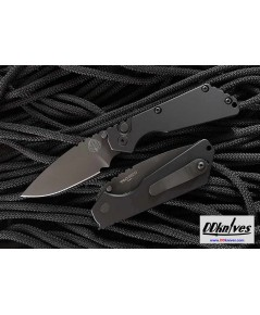 มีดอโต้ Pro-Tech Strider SnG AUTO Folding Knife Black Blade, Black Aluminum Handles (2403)