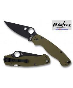 มีดพับ Spyderco Limited Edition Paramilitary 2, S30V Black Blade, OD Green G10 Handles (C81GPGRBKP2)