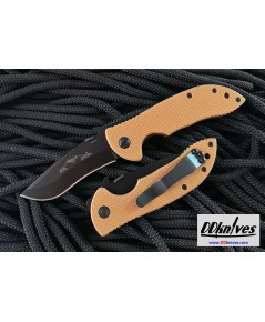 มีดพับ Emerson Mini Commander Special Edition Black Plain Blade, Desert Tan G10 Handles (MCOM-BT)
