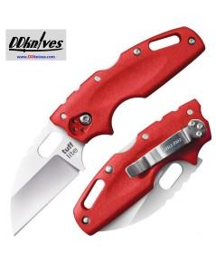 มีดพับ Cold Steel Tuff Lite Folding Knife Plain Blade, Red Griv-Ex Handles (20LTR)