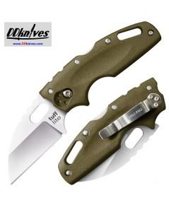 มีดพับ Cold Steel Tuff Lite Folding Knife Plain Blade, OD Green Griv-Ex Handles (20LTG)