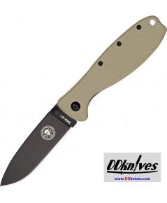 มีดพับ ESEE Zancudo Black D2 Blade, Desert Tan FRN and Stainless Steel Handles (BRKR2DTB)