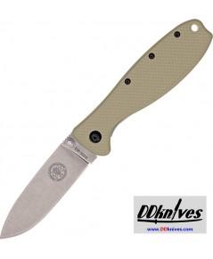 มีดพับ ESEE Zancudo Stonewashed D2 Blade, Desert Tan FRN and Stainless Steel Handles (BRKR2DT)