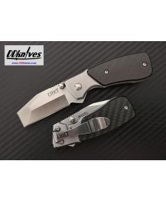 มีดพับ CRKT Compact Razel Liner Lock Knife, Carbon Fiber Handles (4020CF)