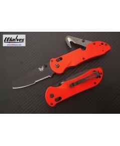มีดพับ Benchmade Triage Rescue Knife Black Combo Blunt Tip Blade, Orange G10 Handles (916SBK-ORG)