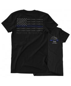 เสื้อยืดคอกลม Emerson Blue Line Skull T-Shirt (Size XL)