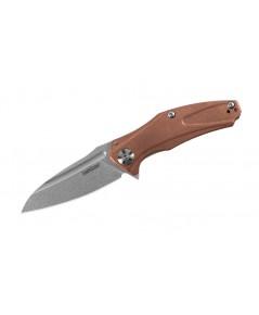 มีดพับ Kershaw Natrix Flipper Stonewashed D2 Drop Point Blade, Copper Handles (7006CU)