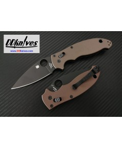 มีดพับ Spyderco Manix 2 Folding Knife M390 Black Plain Blade, Brown G10 Handles (C101GPBNBK2)