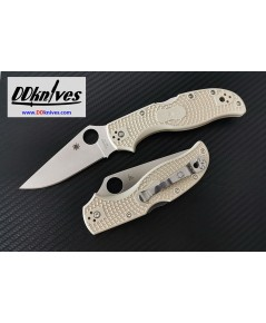 มีดพับ Spyderco Stretch 2, VG-10 Satin Plain Blade, Ivory FRN Handles, Sprint Run (C90FPIV2)