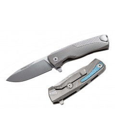 มีดพับ LionSteel ROK G Integral Flipper Knife M390 Satin Blade, Gray Titanium Handles