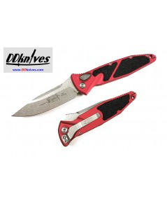 มีดออโต้ Microtech Socom Elite S/E Automatic Knife Stonewash Blade, Red Handle (160A-10RD)