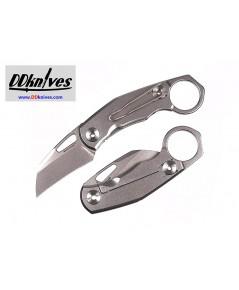 มีดคารัมบิท Real Steel Shade Folding Karambit D2 Stonewashed Blade, Stainless Steel Handles (7911)