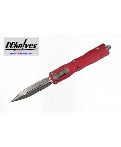 มีดออโต้ Microtech Dirac Delta D/E OTF Automatic Knife Stonewash Blade, Distressed Red (227-10DRD)