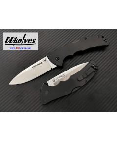 มีดพับ Cold Steel Code 4 Spear Point Folding Knife S35VN Plain Blade, Black Aluminum Handles (58PAS)