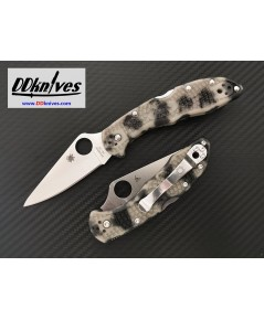 มีดพับ Spyderco Delica 4 Satin Plain Blade with Glow in the Dark ZOME Handle (C11ZFPGITD)